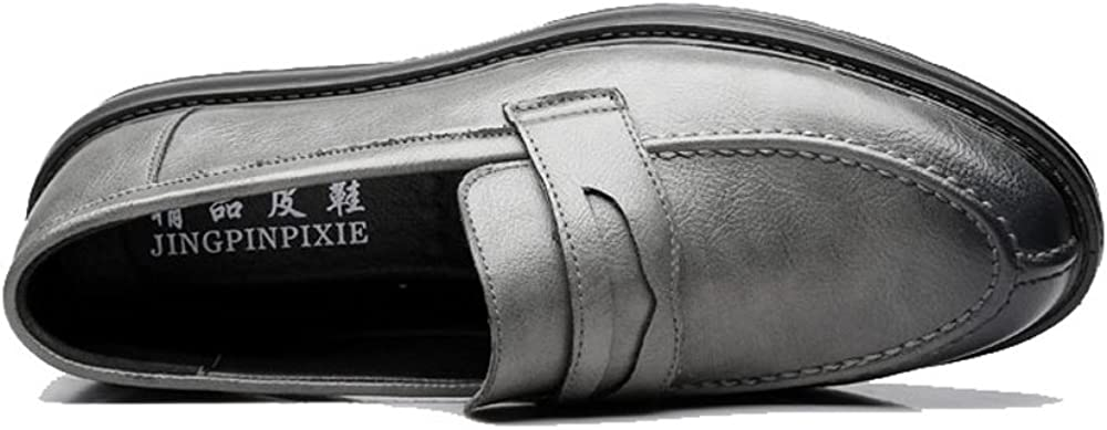 L.P.L Mens Formal Business Shoes Classic Slip-on Loafers PU Leather Casual Outsole Oxfords Breathable