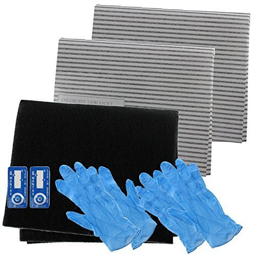 Spares2go Cooker Hood Carbon Grease Filter Complete Kit For Aeg Baumatic Kitchen Extractor Fan Vent