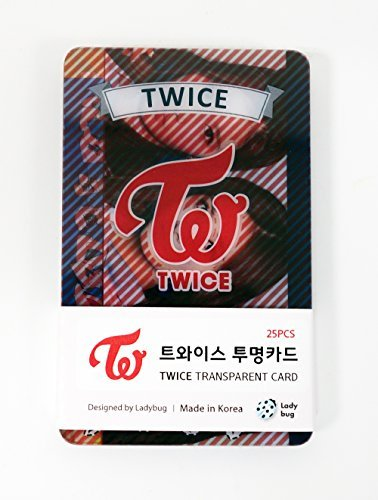 TWICE - TRANSPARENT PHOTO CARDS 25pcs [FAN GOODS] by JYP - Card Entertainment