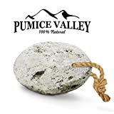 Pumice Valley - Natural Lava Pumice Stone White - Callus Remover for Feet Heels and Palm - Pedicure Exfoliation Tool - Remover Toxins - Corn Remover for Foot - Dry Dead Skin Scrub - Health Foot Care