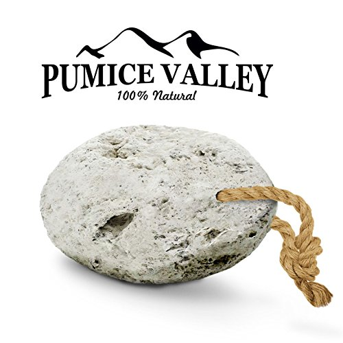 Pumice Valley - Natural Lava Pumice Stone White - Callus Remover for Feet Heels and Palm - Pedicure Exfoliation Tool - Remover Toxins - Corn Remover for Foot - Dry Dead Skin Scrub - Health Foot Care by Pumice Valley