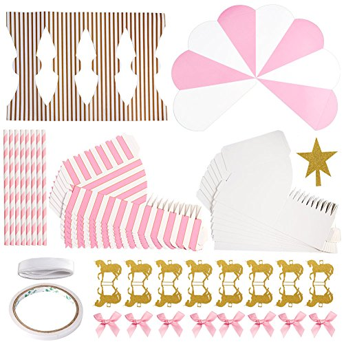 Aytai Boda Cajas de Favor Merry-Go-Round Estilo Cajas de Regalo de Caramelo con Unicornios de oro para Fiesta en Carrusel Cumpleaños Baby Shower Décor ...