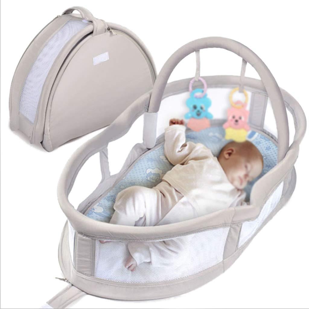 圧力防止ベッドベッド、多機能ポータブル折りたたみベビーバイオニックベッド新生児ベビーベッド、80 * 47 * 43センチ (色 : Gray)  Gray B07ML7M34N