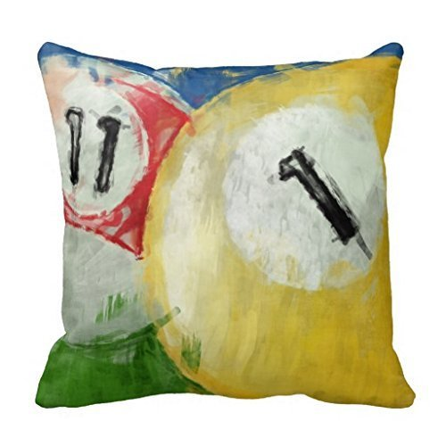 - imouSde Abstract Eleven and One Ball Billiards Decorative Couch Pillow Covers 18 x 18 for Home Living Room Sofa Decor