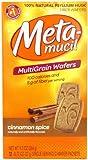 Special Pack of 5 METAMUCIL WAFERS CINNAMON, .77oz, 12 per pack