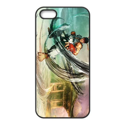 Street Fighter V 10 coque iPhone 5 5s cellulaire cas coque de téléphone cas téléphone cellulaire noir couvercle EEECBCAAN02737