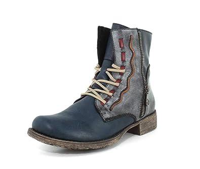 27b81bec743 Rieker Women s Payton 05 Boot (36 M EU) Blue Multi