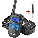 Training Dog Collar - Awaiymi Dog Training Collar with Remote Range of 1000ft 2018 Upgraded Rechargeable Waterproof Shock Collar for Small Medium Large Dogs 6.6lbs-120lbs