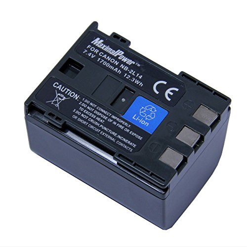 Maximal Power DB CAN NB-2L14 Replacement Battery for Canon Digital Camera/Camcorder (Nb 2l14 Replacement)