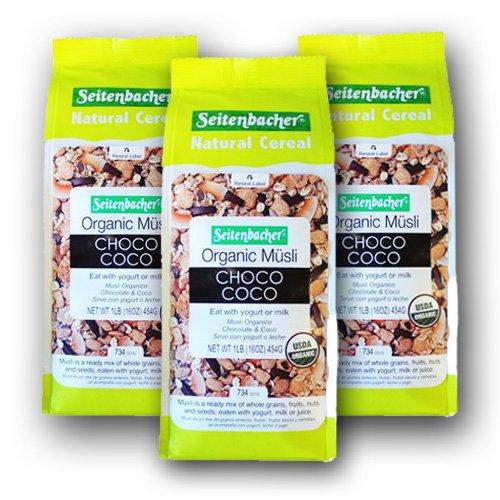 Organic Choco Coco Muesli 1lbs. - 3 pack by Seitenbacher
