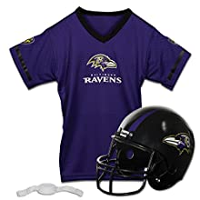 Franklin Sports NFL Baltimore Ravens Replica Youth Helmet and Jersey Set