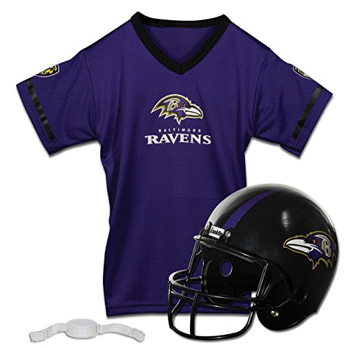 Franklin Sports NFL Baltimore Ravens Replica Youth Helmet and Jersey Set]()