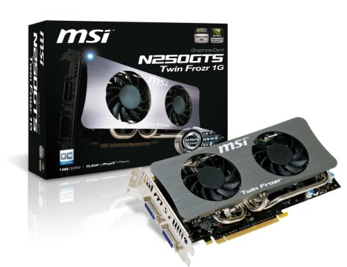 Photo - MSI Military Class 1 GB GDDR3 RAM Twin Frozr Cooler Overclocked Graphics Card N250GTS Twin Frozr 1G OC