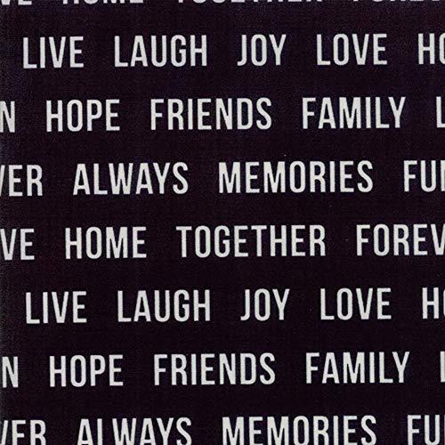 (Moda Urban Cottage Prints Ivory Black Happy Words )