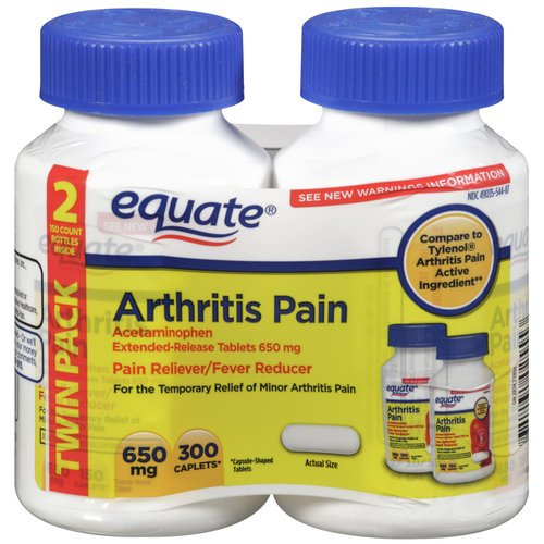 Equate Arthritis Pain 2-Pack Acetaminophen Extended-Release Tablets 650 mg (Compare to Tylenol Arthritis)