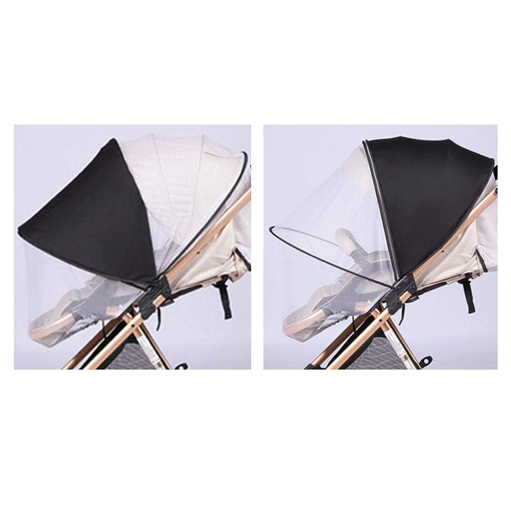 Buggys Zubeh/ör 2 in 1 Kinderwagennetz Sonnenschutz Anti-UV Moskitonetz Yudesun Insektenschutz Kinderwagen Stechm/ücken Netzgewebe