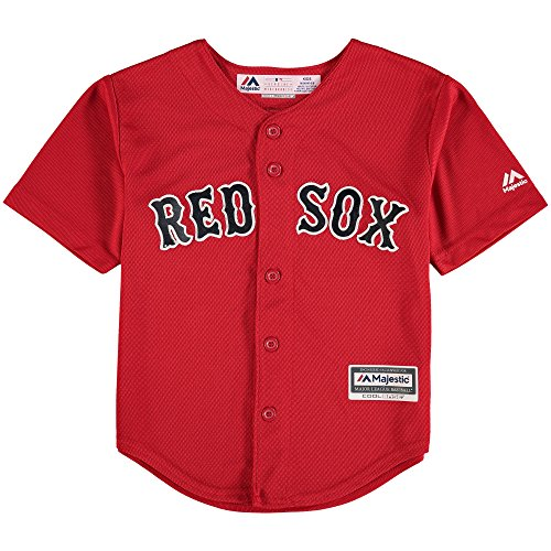 Outerstuff Mookie Betts Boston Red Sox #50 Kids 4-7 Cool Base Alternate Jersey Red (Kids Large 7) ()