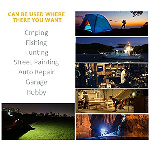 JIN CAN [15W 24LED] Spotlights Work Lights Outdoor Camping Lights, Built-in Rechargeable Lithium Batteries (with USB Ports to Charge Mobile Devices and Special SOS Modes) by JIN CAN (Image #8)