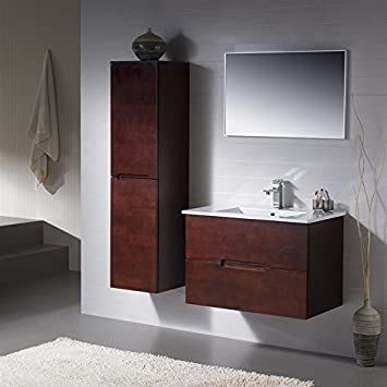 wall mount bathroom vanity espresso porcelain sink top mounted cabinets canada white cabinet