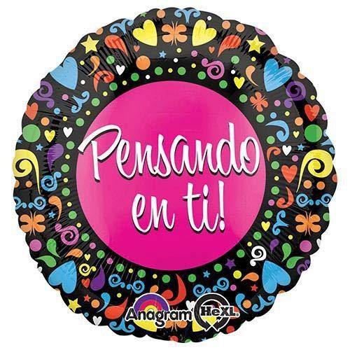 Spanish Thinking Of You Foil Balloon 18 Multicolored Anagram 31136 Pensando En Ti