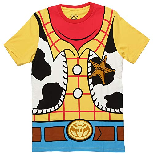 Toy Story Woody Cowboy Costume Banana Yellow Adult T-shirt Tee Large -