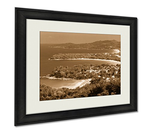 Ashley Framed Prints Phuket Viewpoint Thailand, Wall Art Home Decoration, Sepia, 30x35 (frame size), AG5889952 by Ashley Framed Prints