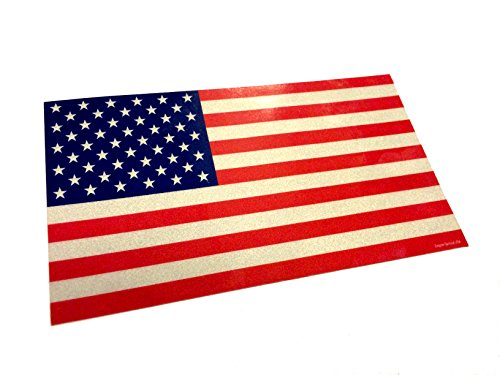 "Large 7x4"" Reflective Color Us Made 3m American Us Patriotic"