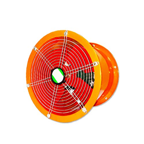 LITING Exhaust Fan Ventilation Fan High Speed Industrial Cylinder Fan Kitchen Lamp Smoke Machine Powerful Axial Flow Fan 8 Inch
