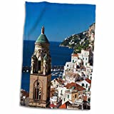 3dRose Danita Delimont - Terry Eggers - Italy - Italy, Amalfi, Morning Light on the Cathedral of St. Andrew. - 15x22 Hand Towel (twl_189251_1)