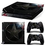 Ps4 Playstation 4 Console Skin Decal Sticker Captain America + 2 Controller Skins Set