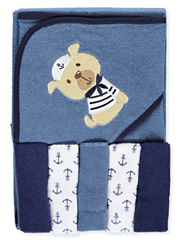 Luvable Friends Hooded Towel and 5 Washcloths