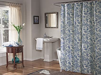 Mstyle Valencia Shower Curtain Blue
