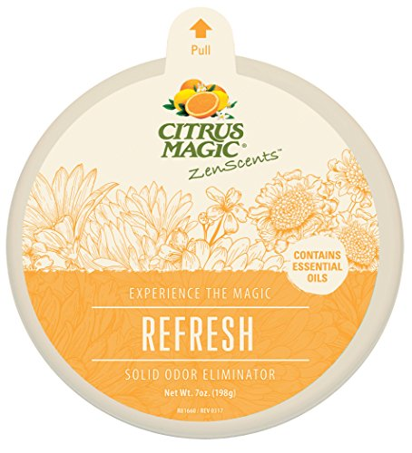 Citrus Magic ZenScents Aromatherapy Solid Air Freshener Refresh, Pack of 3, 7-Ounces Each -