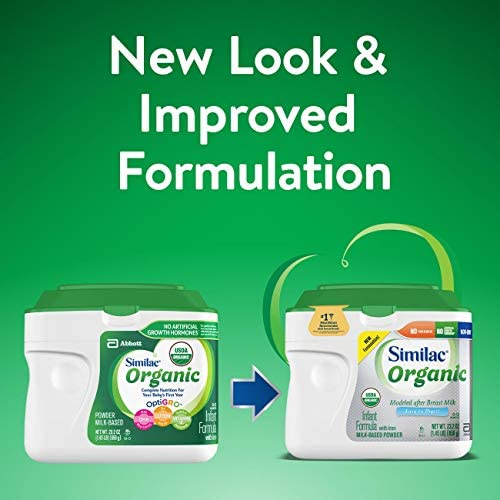 51iFr4P5tnL. AC - Similac Organic Infant Formula With Iron, Powder, 1.45 Lb (Pack Of 6)
