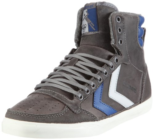hummel TEN STAR OILED HIGH 63-227 - Zapatillas de cuero unisex, color gris, talla 43