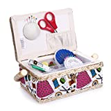 Sewing Basket with Sewing Kit Accessories Organizer Storage for Adults/Kids/Girls/Beginner/Professional