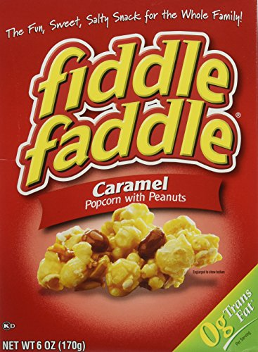 fiddle faddle Carmel Popcorn with peanuts....6 boxes 6. oz each