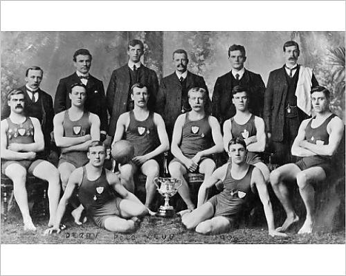 Costumes Swimming Edwardian (Photographic Print of Derby Water Polo)