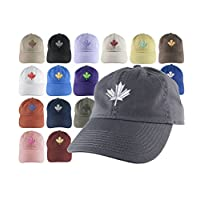 Custom Canadian Maple Leaf Your Colour Choice Embroidery on Your Selection of an Adjustable Unstructured Baseball Cap Dad Hat Style Canada