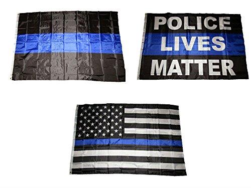 4x6 4'x6' Wholesale USA Police Blue Line Lives Matter Back The Blue Flag Set
