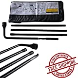 Autofu Spare Tire Tools for Chevy Silverado 1500 2500 3500 HD Suburban, GMC Sierra, Cadillac Escalade ESV, Jack Lug Wrench Tool Kit 22969377, 20782708, 22925285, 20782706, 22969370 Replacement