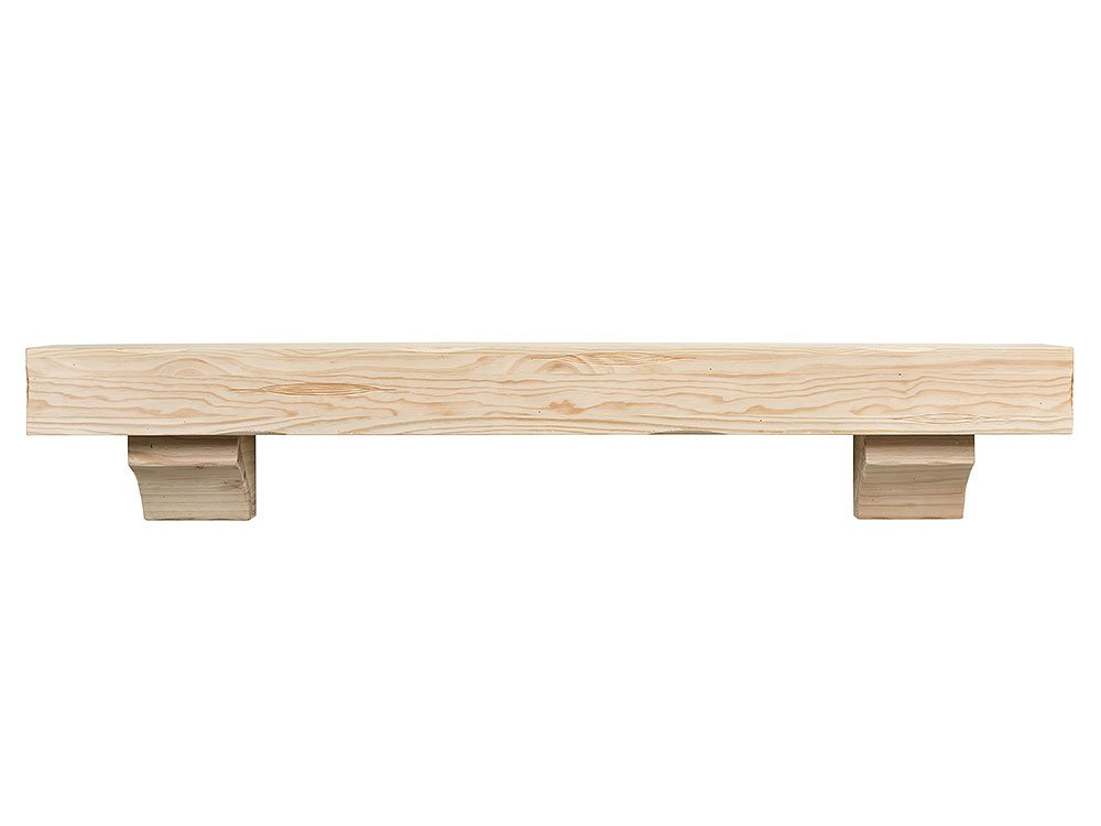 Breckenridge 48 Inch Fireplace Mantel Shelf - Unfinished by Mantels Direct