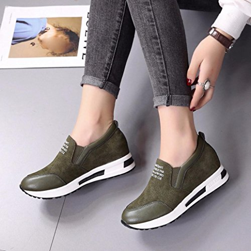 Sneaker Platform Shoes Elevin Green Fashion Wedges Winter TM Ankle Slip On 2018Women Boots qwp6gpPxRX