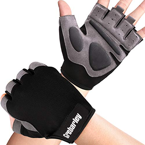 Grebarley Gym Gloves,Training gloves with Wrist Support,Weight lifting Gloves,Breathable Sport Gloves,Crossfit Training…