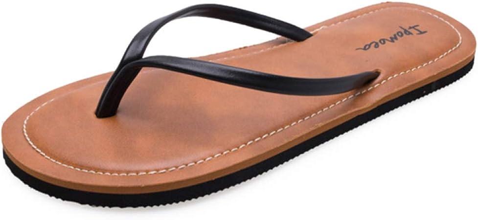 Damen Flache Sandalen Komfort Fu/ßbett Verstellbare Rutschen Doppelschnalle Slip auf Eva Hausschuhen