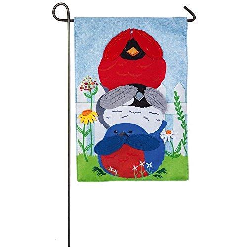 (Evergreen Decorative Garden Flag (Portly Birds))