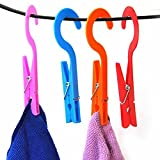 Generic Laundry Hooks Clothespins Hanging Clips Plastic Hanger Home Travel Pack of 10