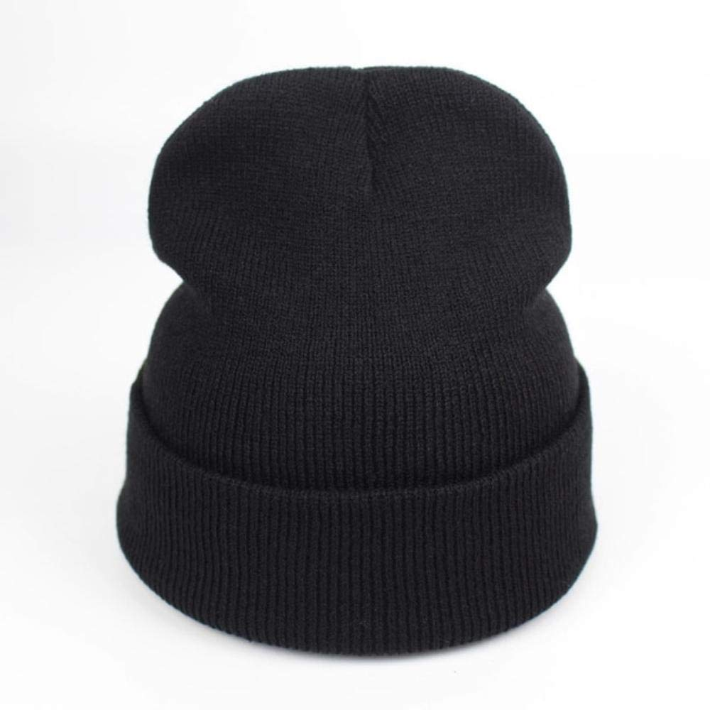 01fb3b4f03181 Amazon.com  Winter Hat Women Man Cap Skullies Beanies Unisex Warm Hats  Knitted Hats for Men Beanies Simple Warm Soft Cap (Black)  Clothing