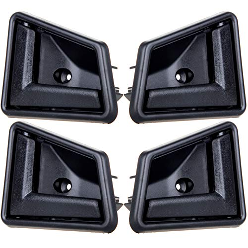 (OCPTY Door Handles Interior Driver Passenger Side Replacement fit 1989-1998 Suzuki Sidekick Inside Door Handles Texture Black(4pcs))