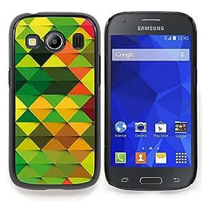 """Qstar Arte & diseño plástico duro Fundas Cover Cubre Hard Case Cover para Samsung Galaxy Ace Style LTE/ G357 (Modelo del papel pintado Random Verde Marrón Naranja"""")"""